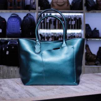 зеленая перламутровая сумка