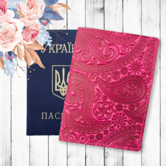 розовая обложка на паспорт фото