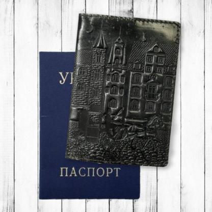черная обложка на паспорт