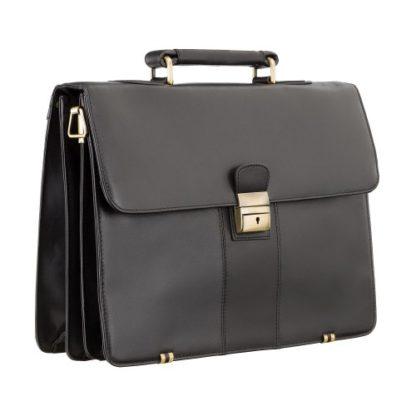 кожаный портфель с замком