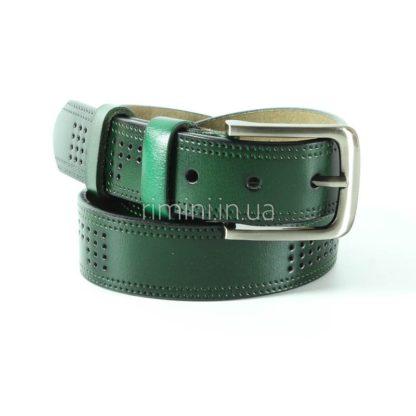 зеленый кожаный женский ремень