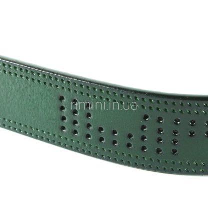 кожаный женский ремень зеленый