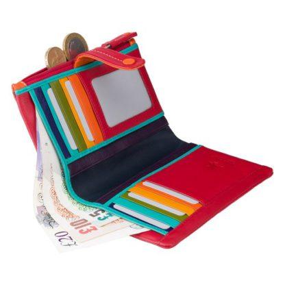 разноцветный женский кошелек