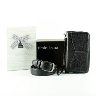 мужской подарочный набор ремень и кошелек в коробке