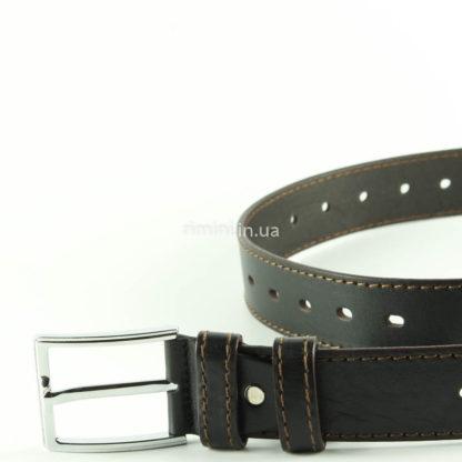 мужской кожаный ремень строчка