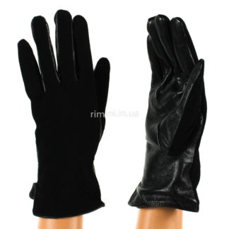 Перчатки женские замша+кожа F39Black
