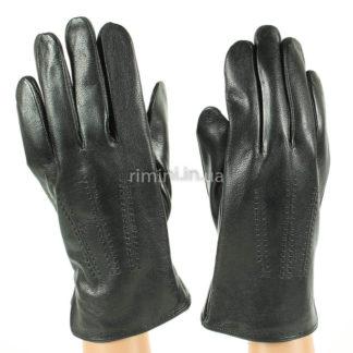 Мужские кожаные перчатки 200Black