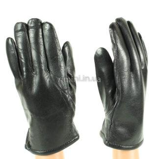 Мужские кожаные перчатки 201Black.fur