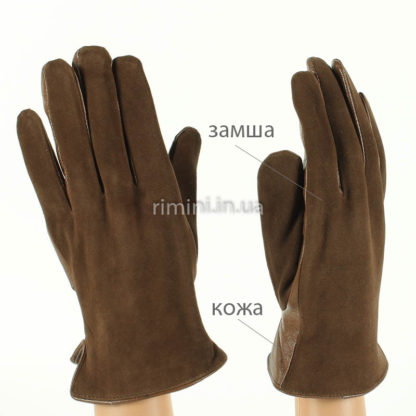 Перчатки мужские замша+кожа F7Brown