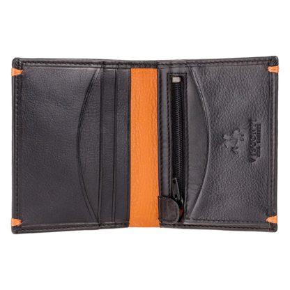 Кошелек мужской Visconti AP61 Brig (Black Orange)