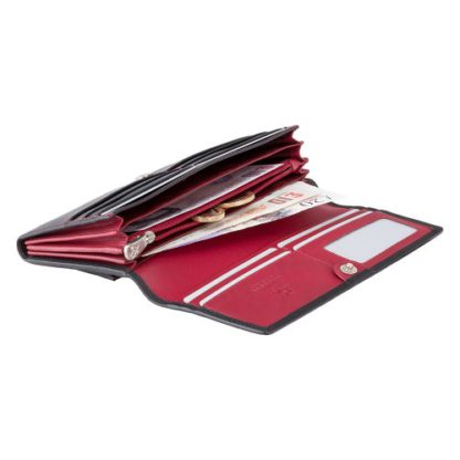 Кошелек женский Visconti CD21 Topaz (Black Red)