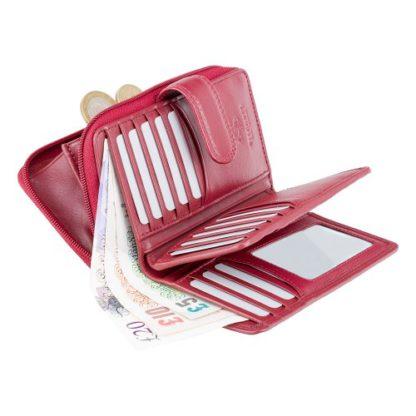 Кошелек женский Visconti HT33 Madame c RFID (Red)