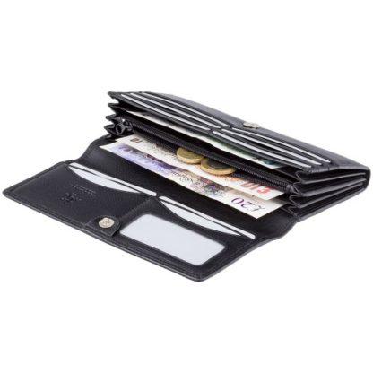 Кошелек женский Visconti HT35 Buckingham c RFID (Black)