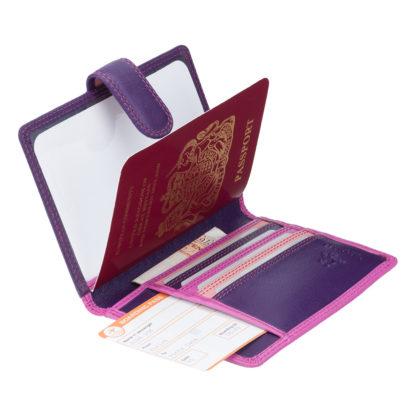 Обложка для паспорта Visconti RB75 Sumba (Berry Multi)