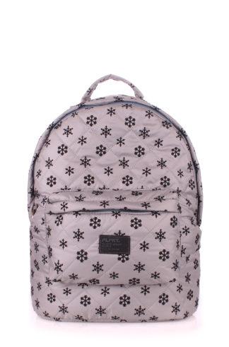 Рюкзак стеганый POOLPARTY (серый)