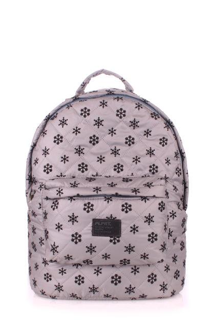 Рюкзак стеганый POOLPARTY серый