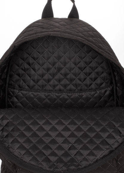 Рюкзак стеганый POOLPARTY черный