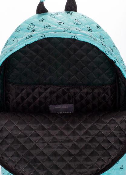 Рюкзак стеганый с уточками POOLPARTY голубой
