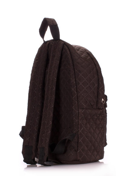 Рюкзак стеганый POOLPARTY коричневый