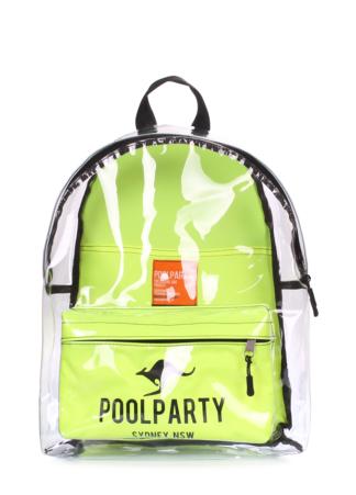 Прозрачный рюкзак Plastic салатовый