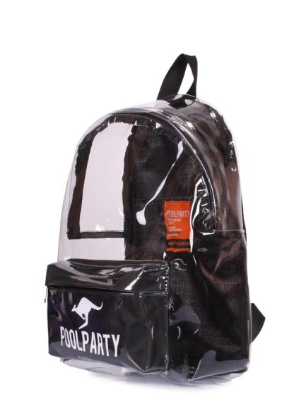 Прозрачный рюкзак Plastic черный