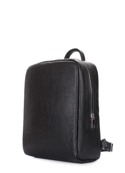 Кожаный женский рюкзак POOLPARTY Cult черный