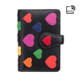 Кошелек женский Visconti LV4 Crush c RFID (Black-Multi Love)