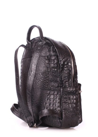 Рюкзак женский кожаный POOLPARTY Mini черный