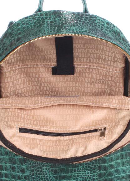Рюкзак женский кожаный POOLPARTY Mini зеленый