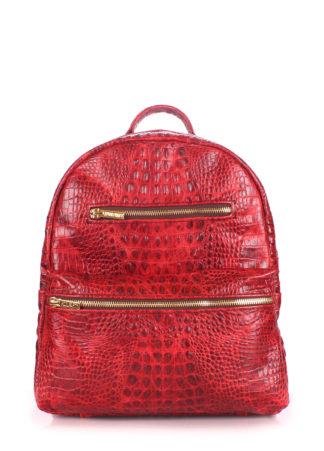 Рюкзак женский кожаный POOLPARTY Mini красный