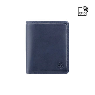 Кошелек мужской Visconti PLR70 Piana c RFID (Steel Blue-Orange)