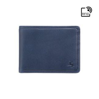 Кошелек мужской Visconti PLR72 Segesta c RFID (Steel Blue-Orange)