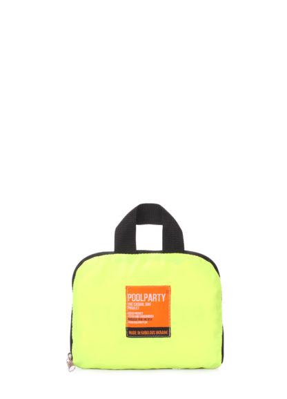 Складной рюкзак POOLPARTY Transformer салатовый