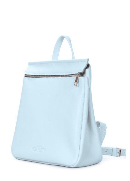 Кожаный голубой рюкзак POOLPARTY Venice