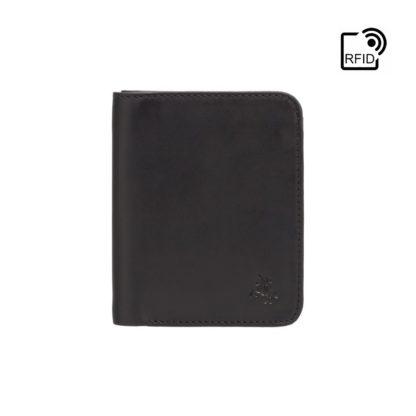 Кошелек мужской Visconti VSL34 Lank c RFID (Black-Orange)