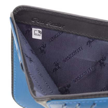Кошелек мужской Visconti VSL34 Lank c RFID (Black-Cobalt)