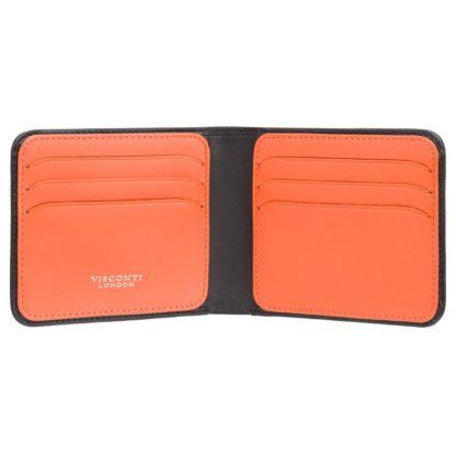 Кошелек мужской Visconti VSL35 Trim c RFID (Black-Orange)