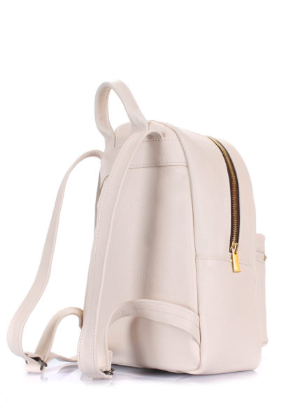 Рюкзак женский кожаный POOLPARTY XS бежевый