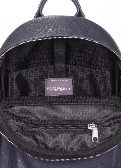 Рюкзак женский кожаный POOLPARTY XS синий