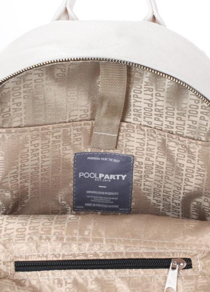 Рюкзак женский кожаный POOLPARTY XS белый