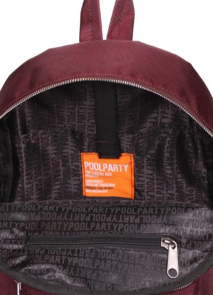 Женский рюкзак XS бордовый