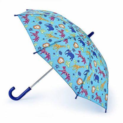 Зонт-трость детский Fulton Junior-4 C724 Jungle Chums (Джунгли)
