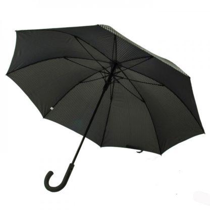 Зонт-трость мужской Fulton Knightsbridge-2 G451 Black Steel (Черный с серым)