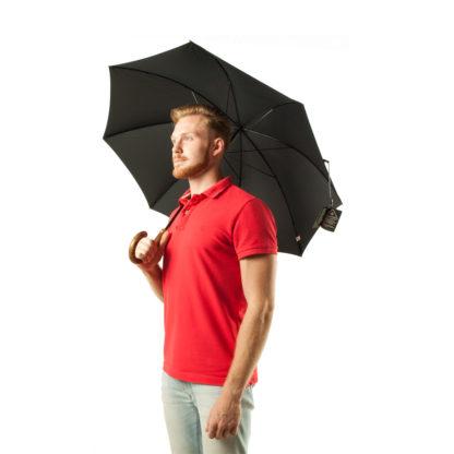 Зонт-трость мужской Fulton Commissioner G807 Black (Черный)