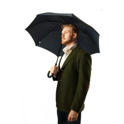 Зонт-трость мужской Fulton Shoreditch-2 G832 Window Pane Check (Клетка)