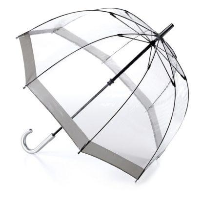 Зонт-трость женский Fulton Birdcage-1 L041 Silver (Серебряный)