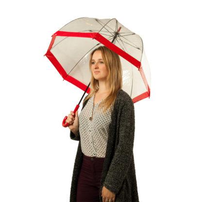 Зонт-трость женский Fulton Birdcage-1 L041 Red (Красный)