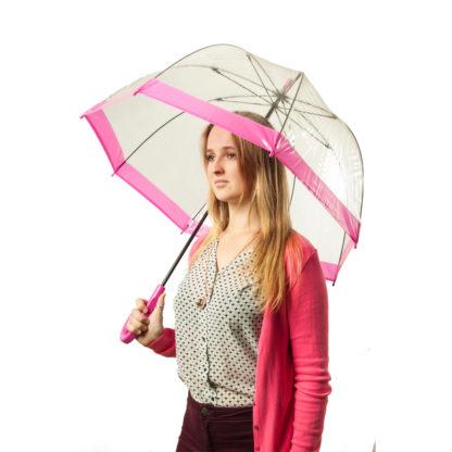 Зонт-трость женский Fulton Birdcage-1 L041 Pink (Розовый)