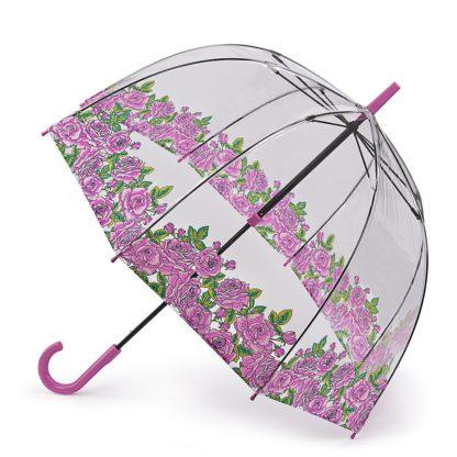 Зонт-трость женский Fulton Birdcage-2 L042 Coming Up Roses (Розы)
