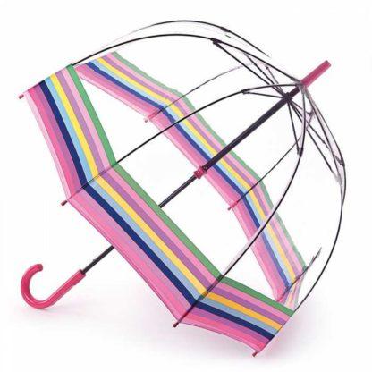 Зонт-трость женский Fulton Birdcage-2 L042 Colour Burst Stripe (Цветные полосы)